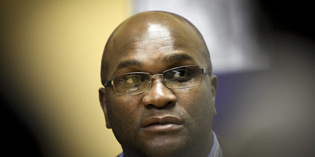 JOHANNESBURG, SOUTH AFRICA - AUGUST 01: (SOUTH AFRICA OUT) Police minister Nathi Mthethwa  addresses the media during a press conference at the Rosebank Police Station, on August 1, 2011 in Johannesburg, South Africa. A South African Police (SAPS) firearms clerk shot and killed a police captain, fired at and injured the station manager of the Rosebank police station then turned the gun on himself.   (Photo by The Times/Gallo Images/Getty Images)