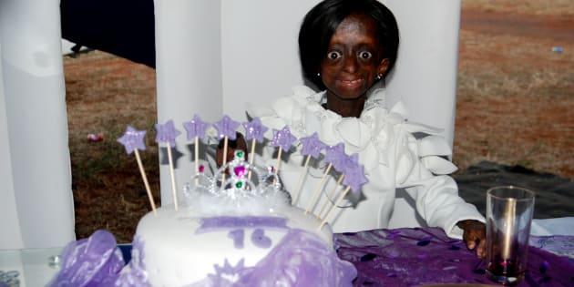 Ontlametse Phalatse during her 16th birthday on May 2, 2015.