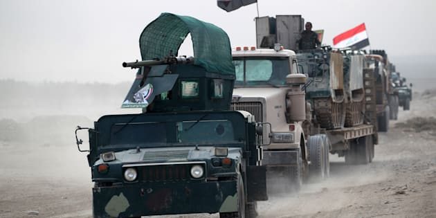 Des soldats irakiens près de Mossoul le 31 octobre 2016.