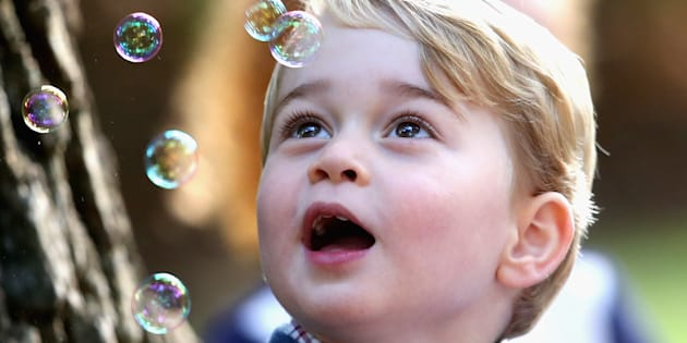 Find someone who looks at you the way Prince George looks at bubbles.