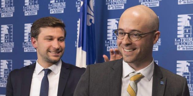 Gabriel Nadeau-Dubois et Sol Zanetti.