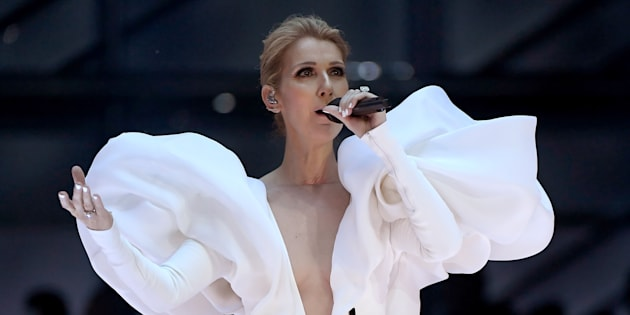 Celine Dion performs onstage during the 2017 Billboard Music Awards.