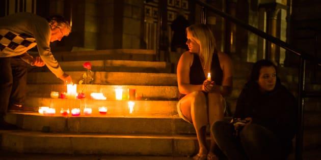 Une vigile en hommage aux victimes, 13 juillet 2013.