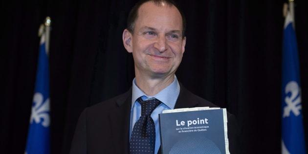 Le ministre des Finances, Éric Girard.