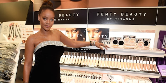 Rihanna launches Fenty Beauty at Sephora Times Square on September 7, 2017 in New York, New York. (Kevin Mazur/Getty Images for Fenty Beauty)