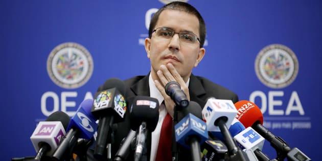 El ministro venezolano de Relaciones Exteriores, Jorge Arreaza, estuvo presente durante la reunión que podría dejar fuera a su país de la organización continental.