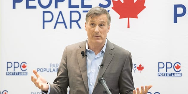 People's Party of Canada Leader MaximeBernier speaks during a candidate nomination event for the upcoming federal byelection in the riding of Outremont in Montreal on Jan. 27, 2019.