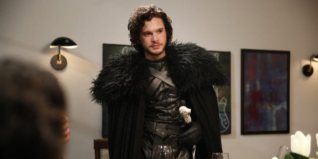 Kit Harrington as Jon Snow during the 'Game of Thrones' skit on Late Night With Seth Meyers, April 2, 2015.