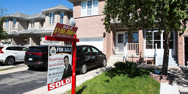 "A ""sold"" sign is displayed outside of a house in Brampton, Ont., Sat. May 20, 2017. Canadian homebuyers could soon see much more detailed data on homes listed for sale, thanks to a decision by the Supreme Court of Canada."
