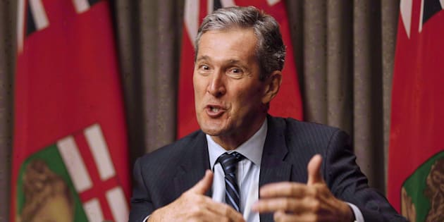 Manitoba Premier Brian Pallister speaks to media in Winnipeg on May 16, 2016.
