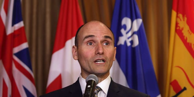 Jean-Yves Duclos speaks to media at the Hotel Grand Pacific in Victoria, B.C., on June 28, 2016.
