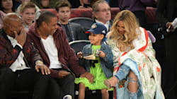 Beyoncé And Blue Look Straight Out Of A Fairy Tale At 'Beauty And The Beast'