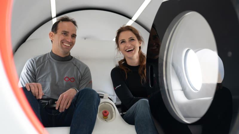 Virgin Hyperloop carries first human passengers in high-speed test