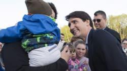 Justin Trudeau visite La Malbaie à l'aube du