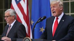 EEUU y la UE sellan una tregua en la guerra comercial aunque mantienen los