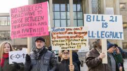 People Form Chain Around Quebec School To Protest Religious Symbols