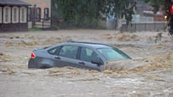 Raging Floodwaters Roar Through The Streets Of U.S. Town –
