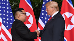 Donald Trump And Kim Jong-Un Shake Hands At Historic North Korea
