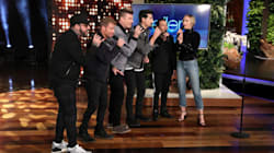 Emily Blunt Joins Backstreet Boys For An Impromptu 'Ellen DeGeneres Show'