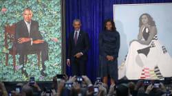 Gli Obama svelano i loro ritratti, Barack scherza: