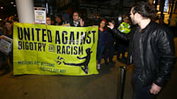 Nigel Farage Fans Heckled By Protesters Outside First Night Of Australia Speaking