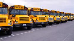 Les chauffeurs d'autobus d'écoliers en grève