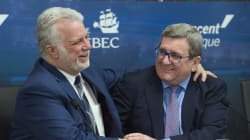 Couillard mise sur le projet de tramway à Québec pour se faire
