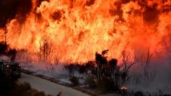 Un incendie encore très actif en Californie, Santa Barbara