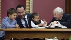 Le nouveau ministre de la Famille se fait voler la vedette par... ses