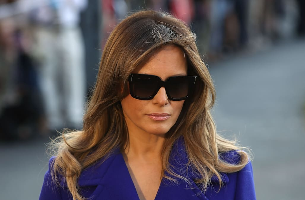 cf3ceb46ceb5 From day to night, there's one accessory Melania Trump never fails to rock  -- her sunglasses. If you recall, the Melania has sparked criticism for  wearing ...