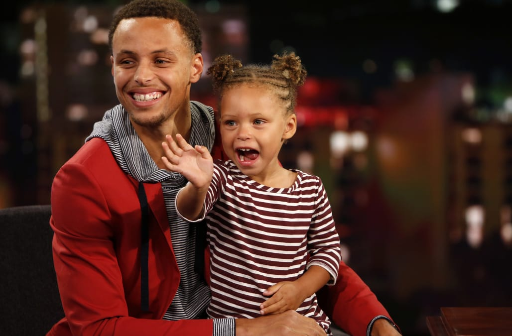 low priced 02cd2 f9889 Stephen Curry regrets putting daughter Riley in the NBA Finals spotlight