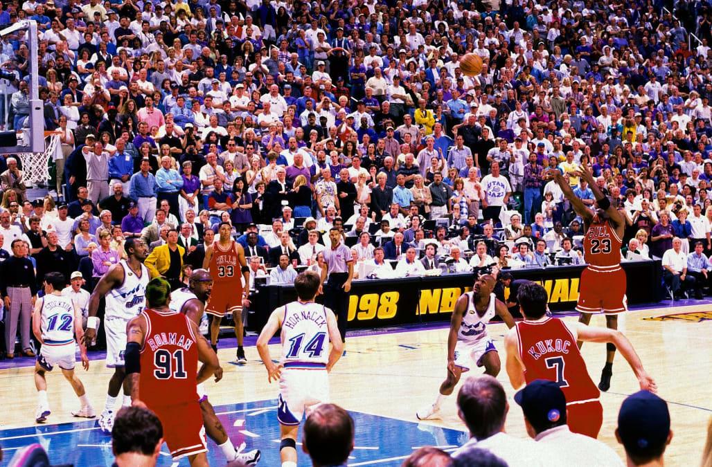 Was Michael Jordan's final shot with the Bulls a foul? A ...