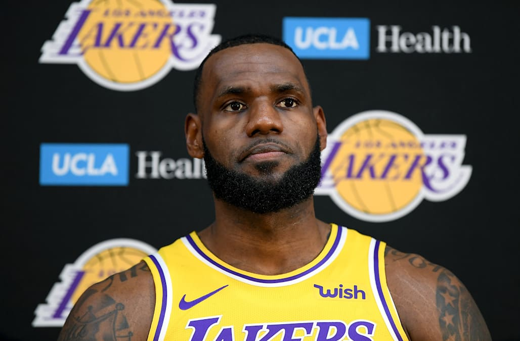 af3935965 LeBron James on the Lakers   Long way to go  to catch the Warriors ...