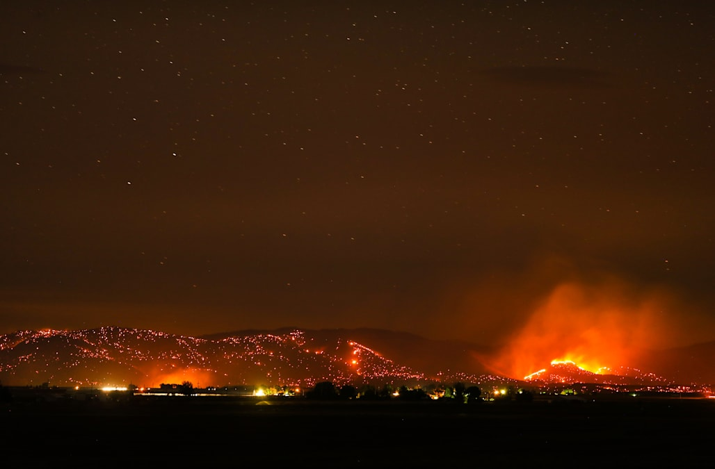 Image result for Wildfire ravages Gorge, Ash chokes communities