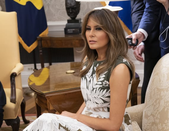 Photo of Melania Trump sitting on couch goes viral