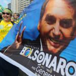 Em São Luiz, Haddad critica vídeo de Eduardo Bolsonaro e diz que opositor é 'chefe de