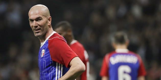 Zinédine Zidane à la U Arena à l'occasion du match de