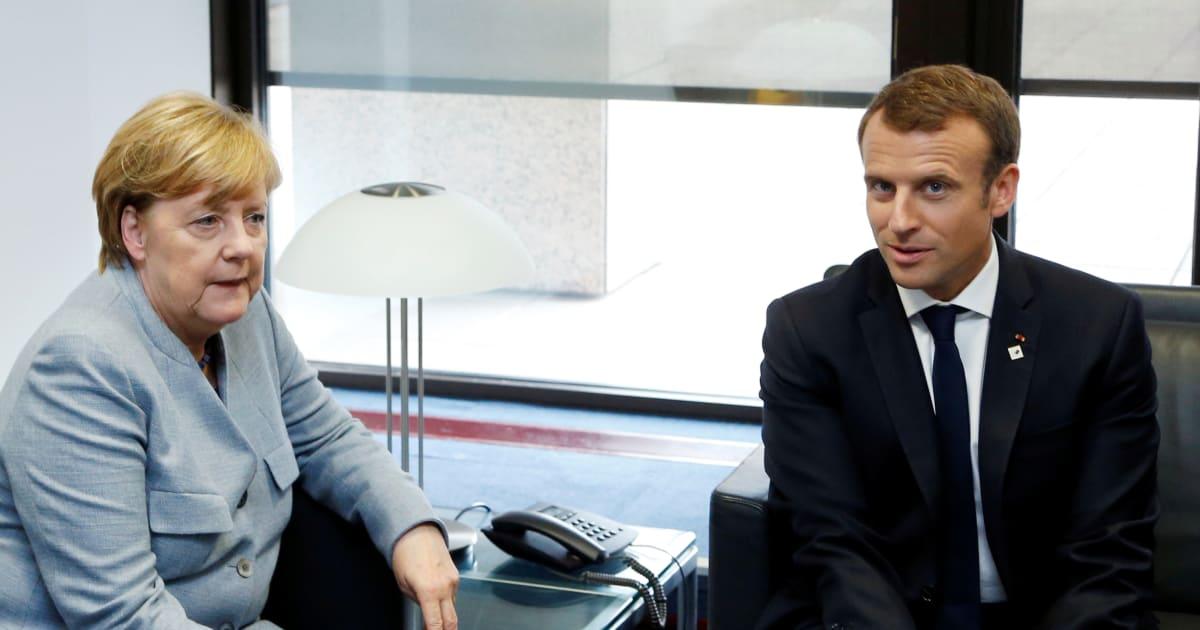 Macron à Berlin pour plaider face à Merkel ses espoirs d'une Europe de la défense (et c'est pas gagné)