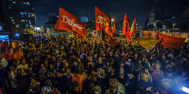 Protesto contra o impeachment de Dilma Rousseff em setembro de 2016.