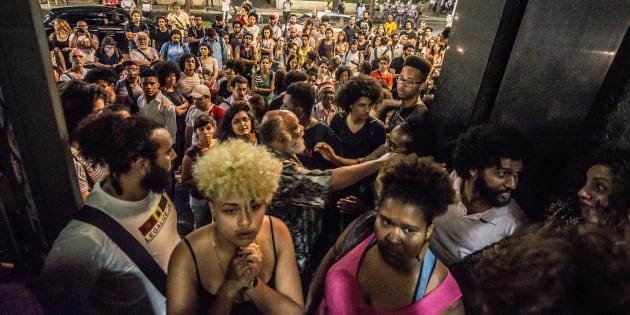 Protesto em São Paulo em 2016 contra o racismo e a violência policial.
