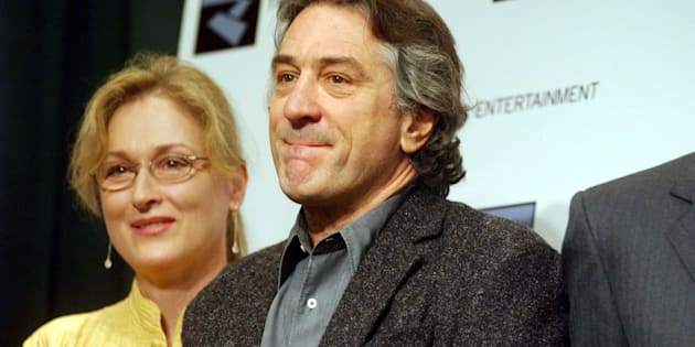 398255 01: (L-R) Actress Meryl Streep and actor Robert DeNiro attend the launch of the first annual Tribeca Film Festival December 6, 2001 in New York City. The festival, scheduled to take place in May 2002, is expected to help revitalize Lower Manhattan after the September 11th terrorist attacks. (Photo by Darren McCollester/Getty Images)