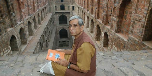 File photo of Anupam Mishra at Agrasen ki Baoli.