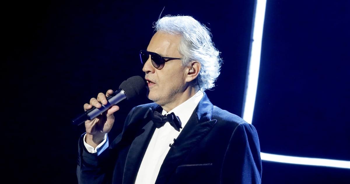 """Andrea Bocelli a Sanremo: """"Io direttore artistico? Sarebbe come chiedermi di fare il chirurgo"""""""