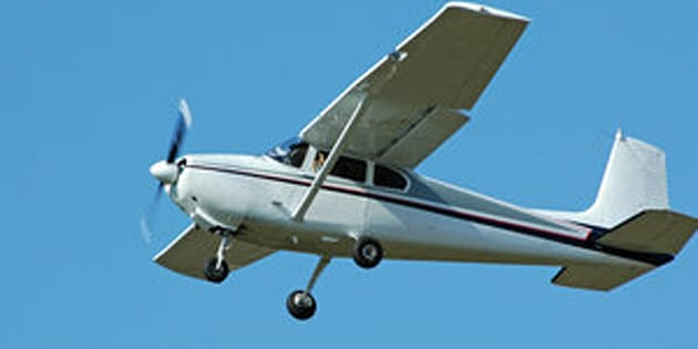 Private four passenger airplane. Cessna 182.