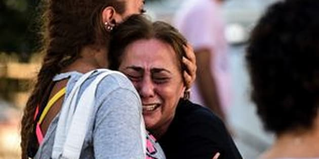 A woman cries outside a forensic medicine building close to Istanbul Ataturk Airport on June 29, a day after a triple suicide bombing killed at least 41 people.
