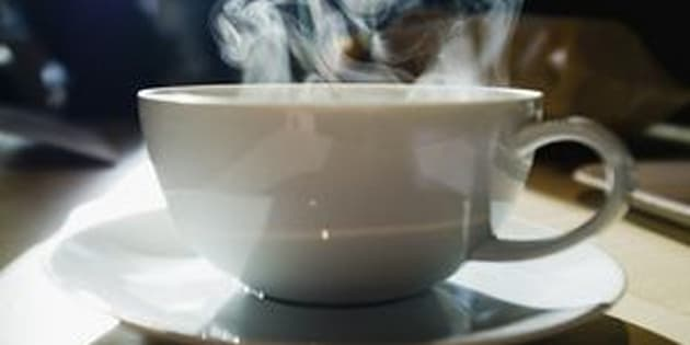 Coffee cup with steam coming out