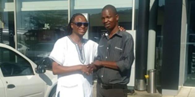 Passengers Reverend Solomuzi Mabuza and Sibusiso Magubane.
