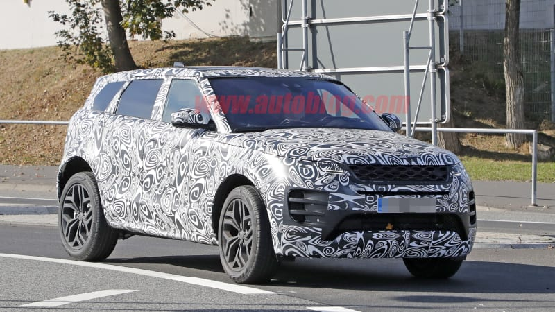 2020 Range Rover Evoque spied testing with much less camo than before