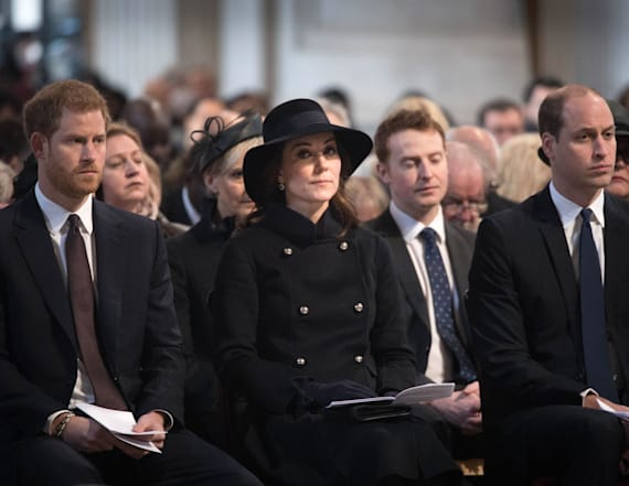 Adele, royals attend Grenfell Tower memorial