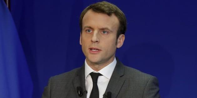 Pour jouer le match de la présidentielle, je choisis Emmanuel Macron. REUTERS/Philippe Wojazer